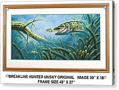 Breakline Hunter Musky Acrylic Print by JQ Licensing