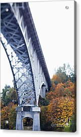 Bridge Footing And Anchor Point Acrylic Print by Don Mason