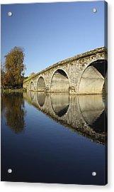 Bridge Over River Nore Bennettsbridge Acrylic Print by Trish Punch