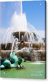 Buckingham Fountain In Chicago Acrylic Print by Paul Velgos