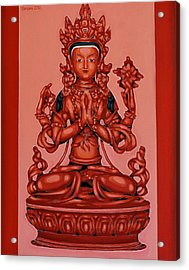 Buddha Of Compassion Acrylic Print by Varvara Stylidou