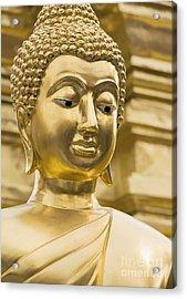 Buddha's Statue Acrylic Print by Roberto Morgenthaler