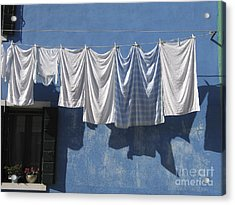 Burano Island. Venice Acrylic Print by Bernard Jaubert