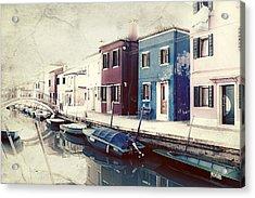 Burano Acrylic Print by Joana Kruse