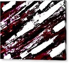 Burgundy Abstract Acrylic Print by Marsha Heiken