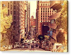 California Street In San Francisco Acrylic Print by Wingsdomain Art and Photography