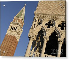Campanile. Plazza San Marco. Venice Acrylic Print by Bernard Jaubert