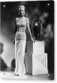 Carole Landis, Ca. 1941 Acrylic Print by Everett
