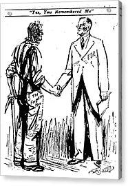 Cartoon: Fdr & Workingmen Acrylic Print by Granger