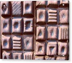 Ceramic Tiles Acrylic Print by Yali Shi