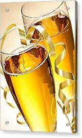 Champagne Glasses Acrylic Print by Elena Elisseeva