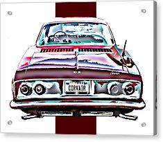 Chevy Corvair Rear Study Acrylic Print by Samuel Sheats