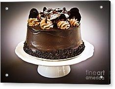 Chocolate Cake Acrylic Print by Elena Elisseeva