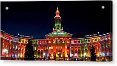 Christmas In Denver Acrylic Print by Phyllis Britton