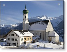 Church In Winter Acrylic Print by Matthias Hauser
