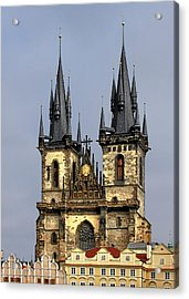 Church Of Our Lady Before Tyn - Prague Cz Acrylic Print by Christine Till