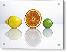 Citrus Fruits Acrylic Print by Joana Kruse