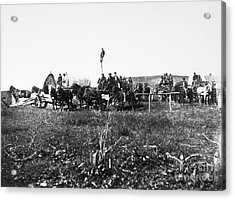 Civil War: Telegraph, 1864 Acrylic Print by Granger