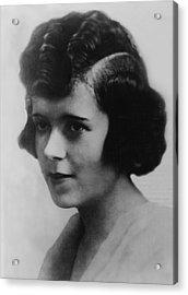 Clara Smith Hamon, Secretary And Lover Acrylic Print by Everett