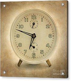 Clock Acrylic Print by Bernard Jaubert