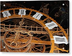 Clock Work Acrylic Print by Mike Stouffer