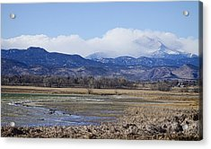 Clouds Hanging On The Continental Divide Colorado Rocky Mountain Acrylic Print by James BO  Insogna