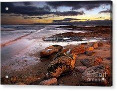 Coastline At Twilight Acrylic Print by Carlos Caetano