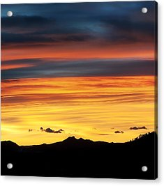 Colorado Sunrise Acrylic Print by Beth Riser
