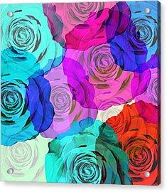 Colorful Roses Design Acrylic Print by Setsiri Silapasuwanchai