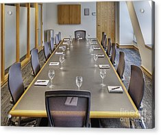 Conference Table And Chairs Acrylic Print by Andersen Ross