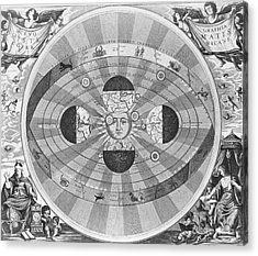 Copernican World System, 17th Century Acrylic Print by Science Source