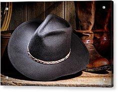 Cowboy Hat Acrylic Print by Olivier Le Queinec