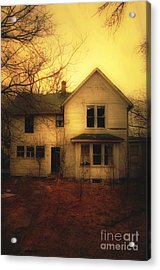 Creepy Abandoned House Acrylic Print by Jill Battaglia