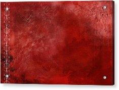 Crimson China Acrylic Print by Christopher Gaston
