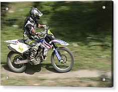 Cross Country Motorbike Racing Acrylic Print by Photostock-israel
