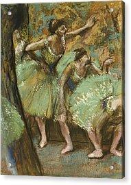 Dancers Acrylic Print by Edgar Degas