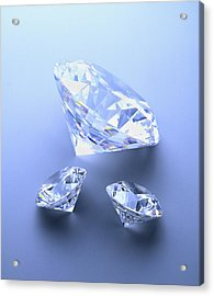 Diamonds Acrylic Print by Lawrence Lawry