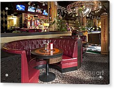Dining Booth In An American Style Diner Acrylic Print by Jaak Nilson