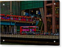 Docklands London Acrylic Print by Dawn OConnor