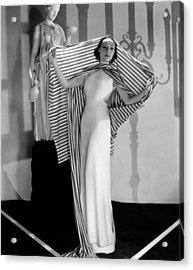 Dolores Del Rio, Ca. 1930s Acrylic Print by Everett