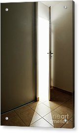 Doorway Left Ajar Acrylic Print by Sami Sarkis
