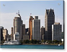 Downtown Detroit Acrylic Print by James Marvin Phelps