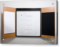 Dry Erase Board Acrylic Print by Andersen Ross