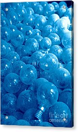 Dusty Light Bulbs Acrylic Print by Gaspar Avila