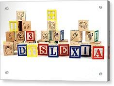 Dyslexia Acrylic Print by Photo Researchers, Inc.