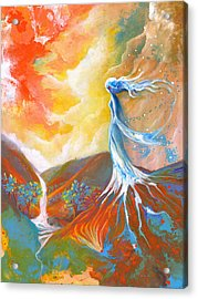 Earth Angel Acrylic Print by Valerie Graniou-Cook