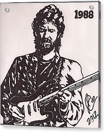 Eric Clapton Acrylic Print by Jeremiah Colley