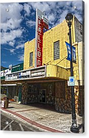 Fallon Nevada Movie Theater Acrylic Print by Gregory Dyer