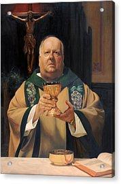 Father Tom Butler Acrylic Print by Anna Rose Bain