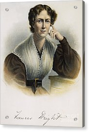 Frances Wright (1795-1852) Acrylic Print by Granger